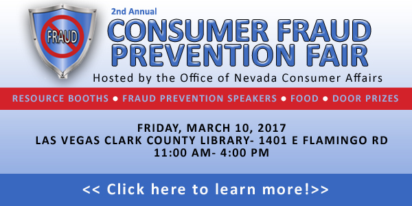 Consumer Fraud Prevention Fair
